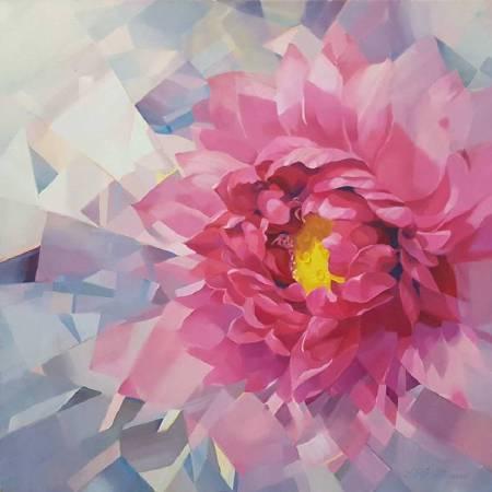 林宗賢 紅顏  2016 油畫 66x66cm (22F)