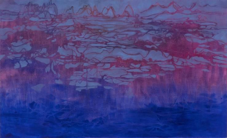 張玉歆  01 Line out 山海 油彩、畫布 2013 145.5 x 112 cm
