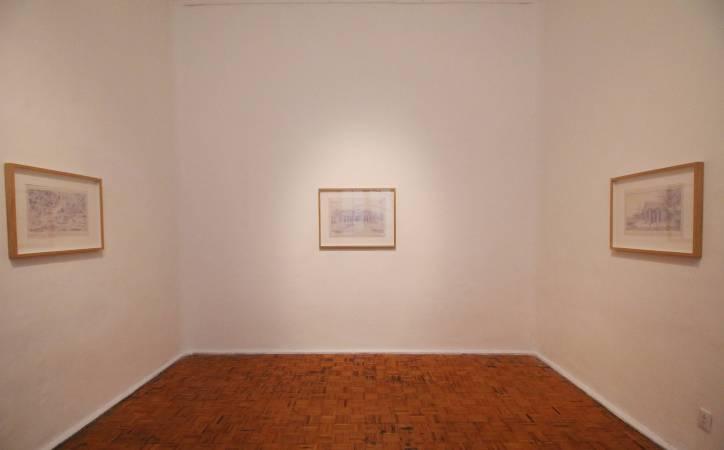 Virginia Colwell《杜拉佐系列》,針筆繪於手工紙,2012。