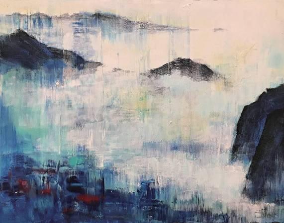 雲湧 91.5x116cm (50F) 油畫