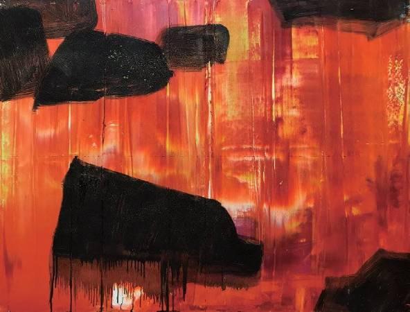 晚霞 91.5x116cm (50F) 油畫