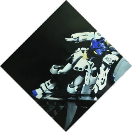 絕對領域 III ・ 油彩畫布 oil on canvas・ 40×40 cm ・2014