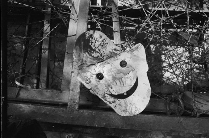 """劉振祥〈「黑名單」面具 〉Liu Chen-hsiang. """"Black List"""" Mask. 1990"""