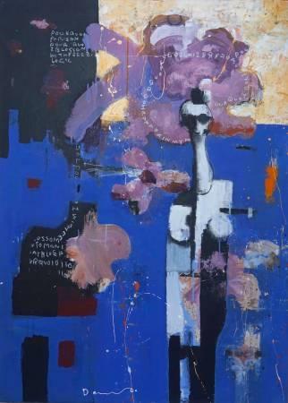 黃大維 Huang Ta Wei - 無題 Untitled 109×79 cm 壓克力、紙、畫布 Acrylic on Paper with Canvas 2016