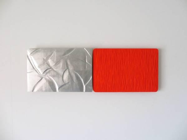 坪田昌之 Masayuki Tsubota -  YT-532 The Wall of Self_tfvey1 W74 × D3.5 × H24.5 cm 打底劑、油彩、木材、錫箔  Gesso, Oil on Basswood, Tin Foil 2012
