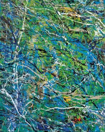 薛保瑕/成層/2016/壓克力顏料、畫布/215x173cm