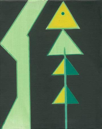 霍剛  象形之2 50x40cm 油彩、畫布 2007