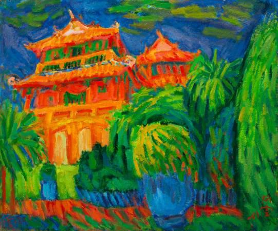 赤崁樓, 2001, 20F, 油彩畫布