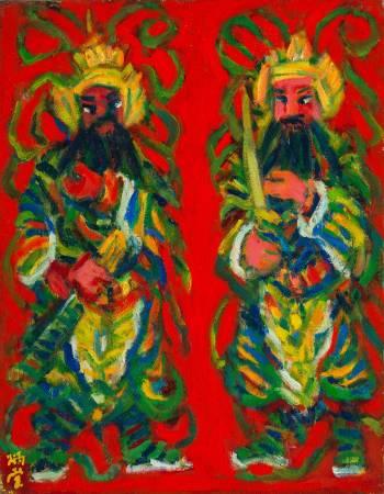 門神 2001 6F 油彩畫布
