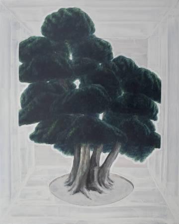 黃淼訓 (HUANG Miaoxun),限制生長(Restricted Growth), 150x120cm, 2015 ,油彩、壓克力彩、畫布(Oil Acrylic on Canvas)。