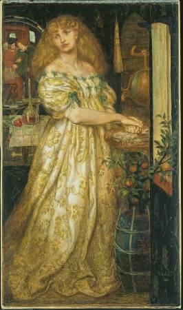 X8894 Dante Gabriel Rossetti Lucrezia Borgia, 1860-1 Graphite and watercolour on paper 43.8 × 25.8 cm © Tate, London (N03063)