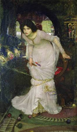 X8903 John William Waterhouse The Lady of Shalott, 1888 Oil on canvas 142.2 × 86.3 cm Leeds Museums and Galleries (Temple Newsam) (LEEAG.PA.1895.0004) © Leeds Museums and Galleries (Leeds Art Gallery) / Bridgeman Images