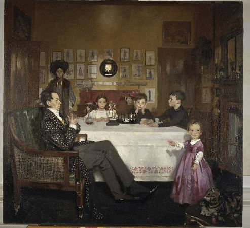 X8908 William Orpen A Bloomsbury Family, 1907 Oil on canvas 86.5 cm Scottish National Gallery (GMA 881) © National Galleries of Scotland