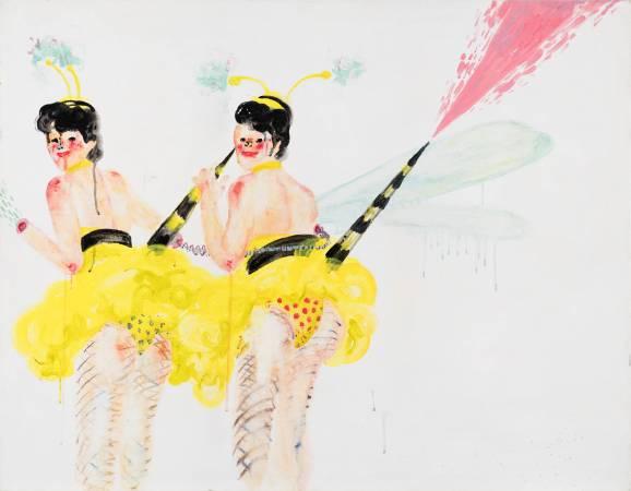 溫佳寧《蜜蜂美眉》,2016,壓克力顏料、畫布,116.5 × 91 cm