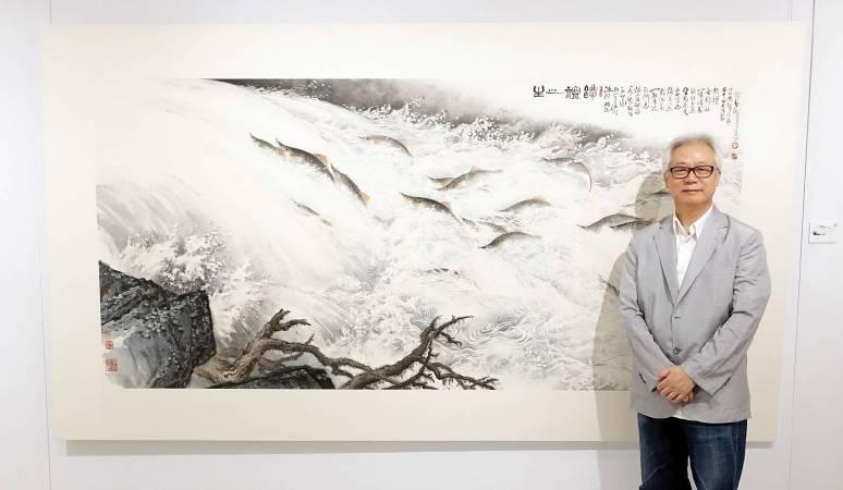 藝術家林章湖。圖/非池中藝術網攝。