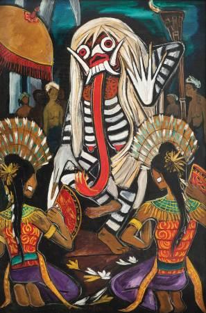 1953_鍾泗濱 峇里舞會 1953 油彩畫布 134×87.5cm