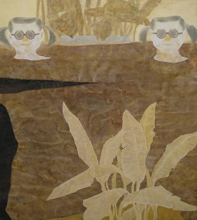 黃路玉苓 當我們同在一起 100x90cm 2016 水墨 膠彩 礦物顏料 紙本