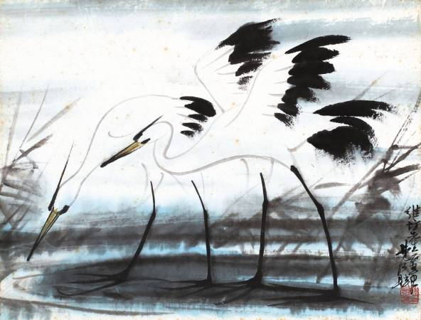 林風眠《白鷺鷥》。圖/取自帝圖藝術。