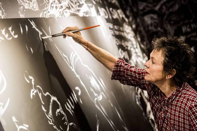Laurie Anderson現場手繪02 © 臺北市立美術館Taipei Fine Arts Museum