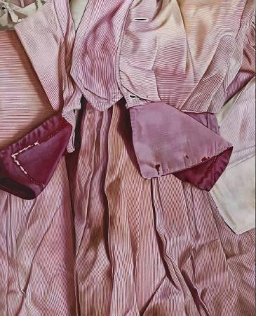 Marina Cruz  《緋紅與疤痕》  152.4 x122 cm  油彩畫布  2017
