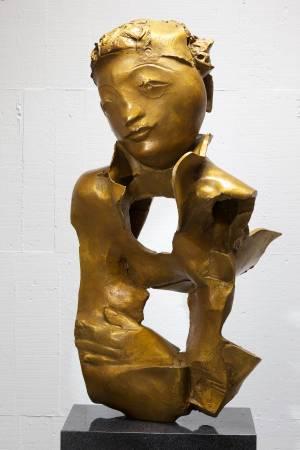 在水一方  44x34x86cm,Bronze,2013