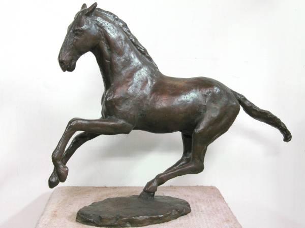蒲添生 跑馬 1988年 青銅 / PU Tian-Sheng Running horse 58x47x14cm Bronze