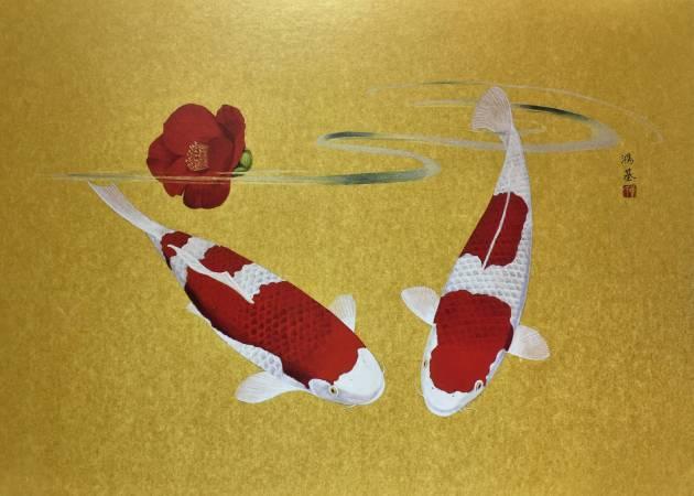 2016 鯉魚 53X72.5cm 膠彩絹本