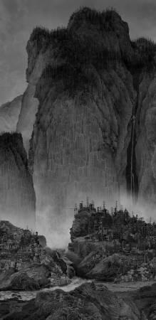 《谿山行旅圖》 Artificial Wonderland II -Travelers among Mountain and Streams,藝術微噴 Giclee print on paper,300 x 150 cm,2014