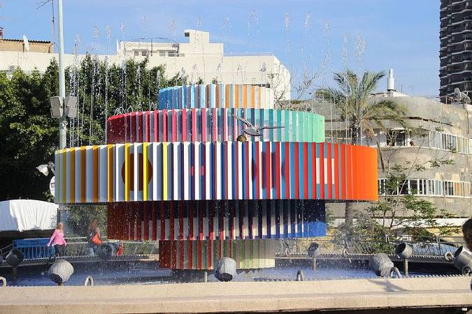 Yaacov Agam, Fire and Water Fountain Tel Aviv ,圖/取自Wikipedia。