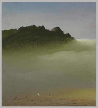 葉東進 山之音No.803 2018年 83×75cm 油彩蠟筆.卡紙 / YEH Tung-Jinn Sound of mountains No.803 2018 83×75cm Oil sticks on paper