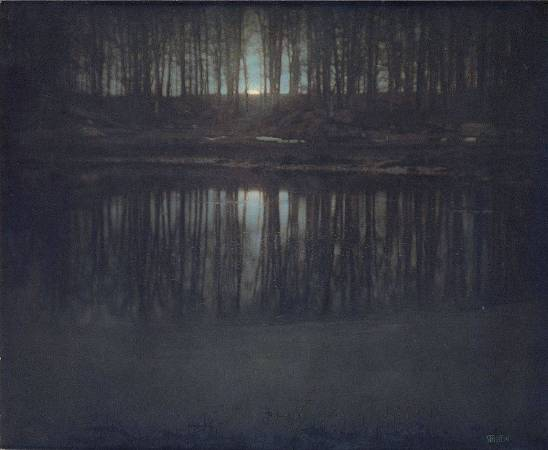 Edward Steichen, The Pond—Moonlight。圖/取自Wikipedia。