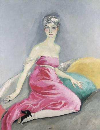 凡東榮《La robe rose》,1919。圖/取自Wikipedia。