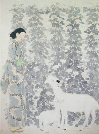 林之助《朝涼》。圖/國立台灣美術館典藏,取自Wikipedia。