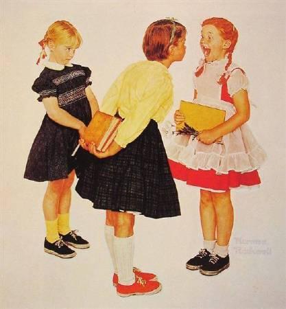 洛克威爾《檢查牙齒》(Checkup),1957。圖/取自Wikiart。