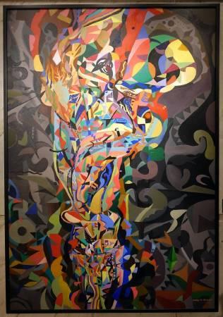 鄭伯君,綻夏,油畫,2013年。