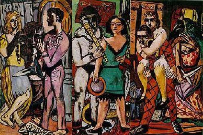 馬克思‧貝克曼,《Carnival》。圖/取自Wikipedia。