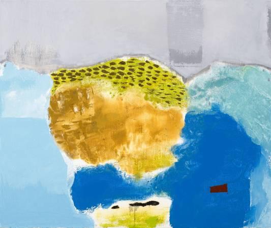 葉竹盛, 石頭13, 2015年, 72.5x60.5cm, 油彩畫布 / YEH Chu-Sheng, Stone No.13, 2015, Oil on canvas