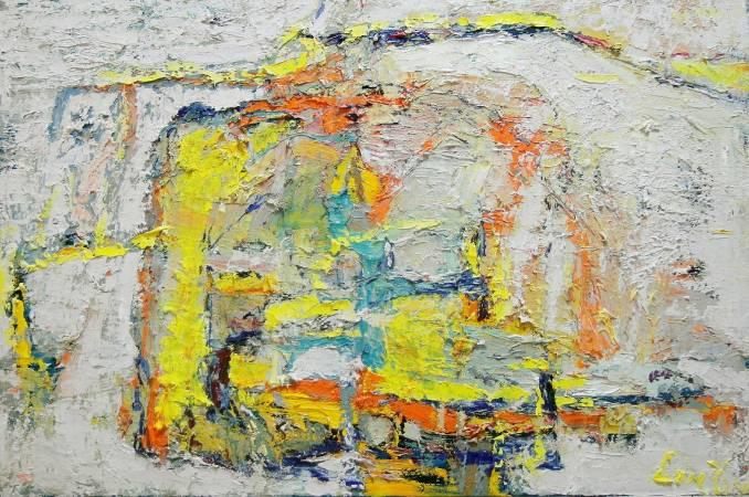 林玉雯, 沒有.太多(八), 2015年, 80x53cm, 油彩畫布 / LIN Yu-Wen, Nothing.Too much No.8, 2015, Oil on canvas