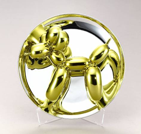 Balloon Dog (yellow) 氣球狗 (黃金) 26.7 x 26.7 x 12.7 cm Porcelain 陶瓷 2015  © Jeff Koons