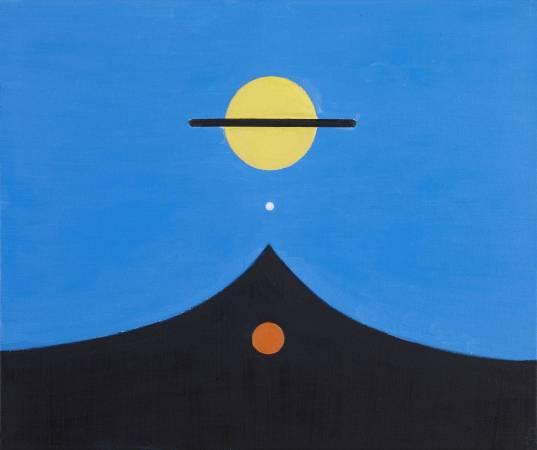 霍剛,開展之8,油彩,60.5x72.5cm,2009 。