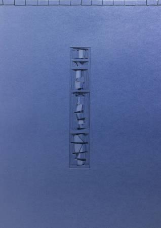 朱為白,超思維,冊頁紙雕,102x72cm,2010。