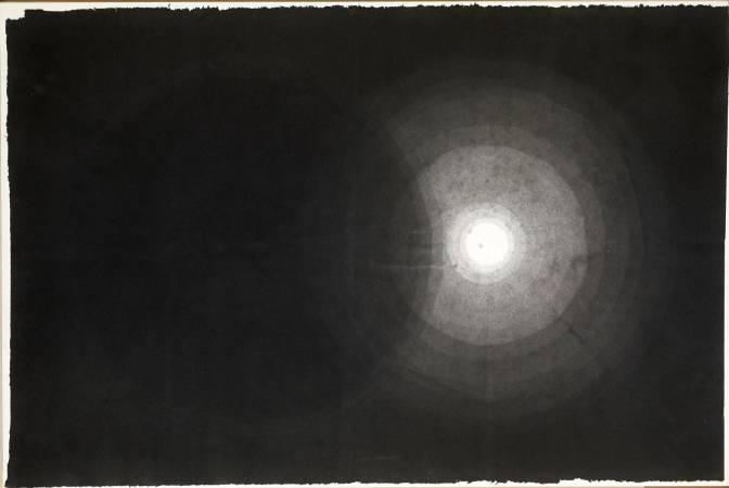羅睿琳,彼-此-7,2000,水墨、宣紙,95x140cm。