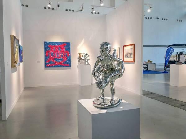 《偉大的航行—當代藝術新境》王志文作品深受國際買主喜愛。圖/台南藝術博覽會提供。