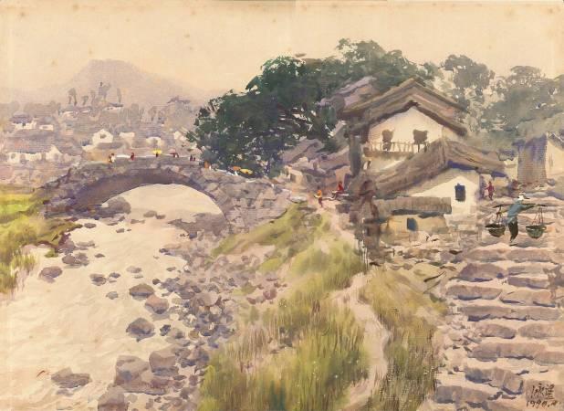 杜詠樵  山間村落