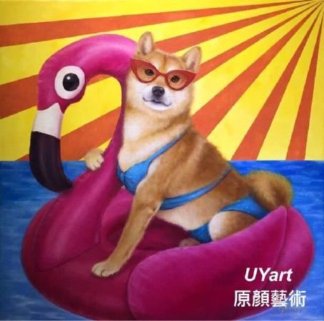 神奇的泳圈 2018 18F 油畫 郭香芬