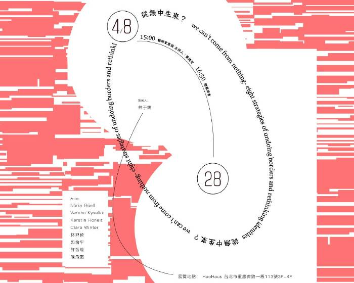 好思當代【《從無中生來?》臺歐藝術家聯展】Eight strategies for undoing borders and rethinking identities