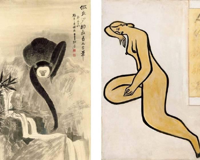 常玉與張大千《對比兩位最極端的繪畫大師》