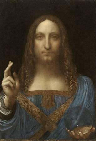 達文西《救世主》,約1500。圖/取自Wikipedia。