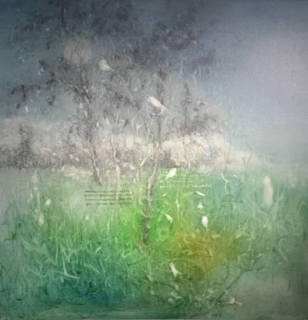 李瑞〈獨行彌滿〉油彩、丙烯、畫布 100x100cm 2014