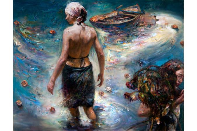 到達過去 │ 油彩、畫布 122 x 160 cm 2012年